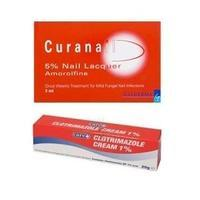 Antifungal Bargain Bundle Curanail 5% Nail Lacquer 3ml & Clotrimazole 1% Cream 20g