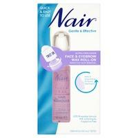 Nair Ultra Precision Face & Eyebrow Wax Roll-On Sensitive Hair Removal 15ml
