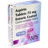 2 x Aspirin Enteric Coated 75mg 56 Tablets